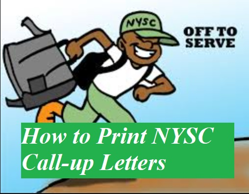 print nysc call-up letter